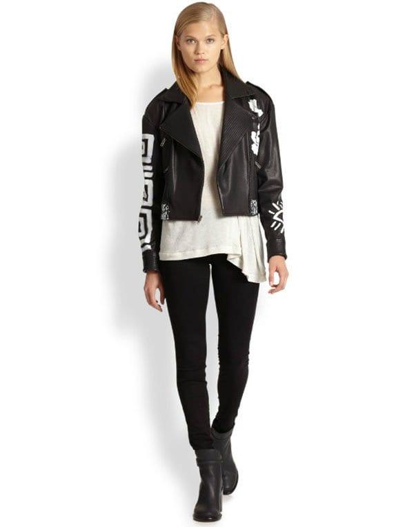 Elizabeth and James Erwan Leather Jacket1