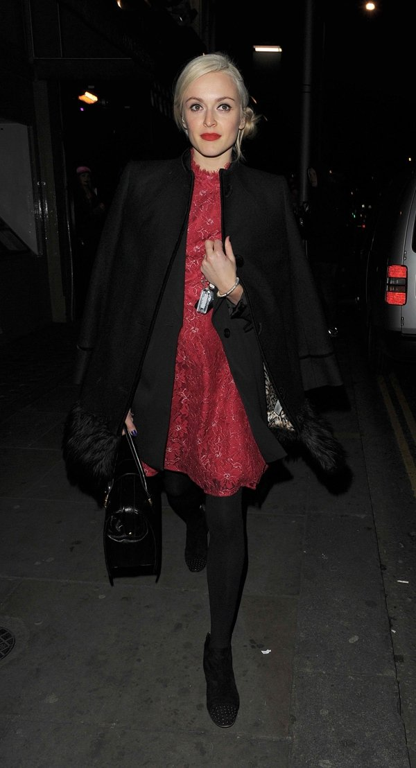 Fearne Cotton dropping by the Celebrity Juice wrap party held at Maggie's members club in Chelsea, London, on November 25, 2013