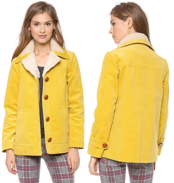 Harvey Faircloth Shearling Collar Car Coat