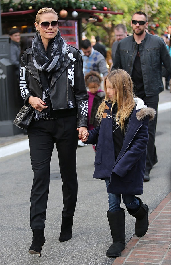 Heidi Klum shops at The Grove with her family