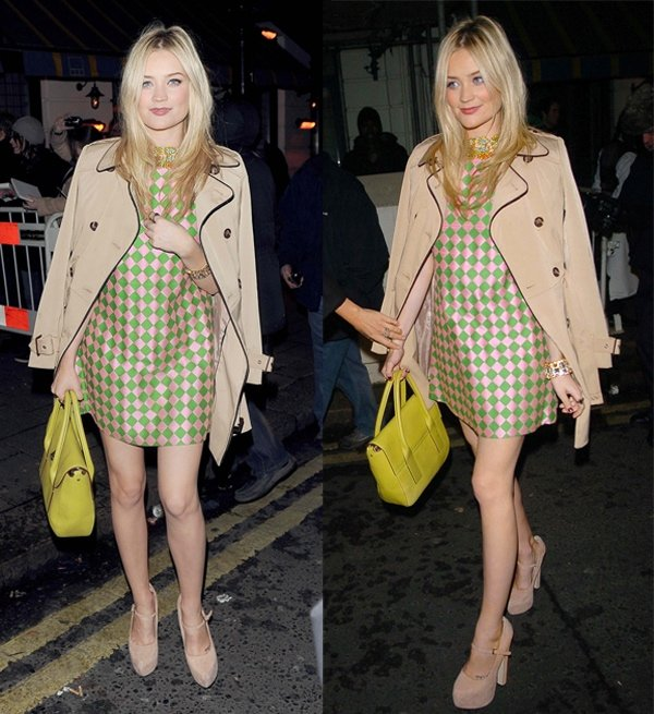 Laura Whitmore at the pre–Silver Lining Bafta party at the Little House Restaurant in London on February 8, 2013