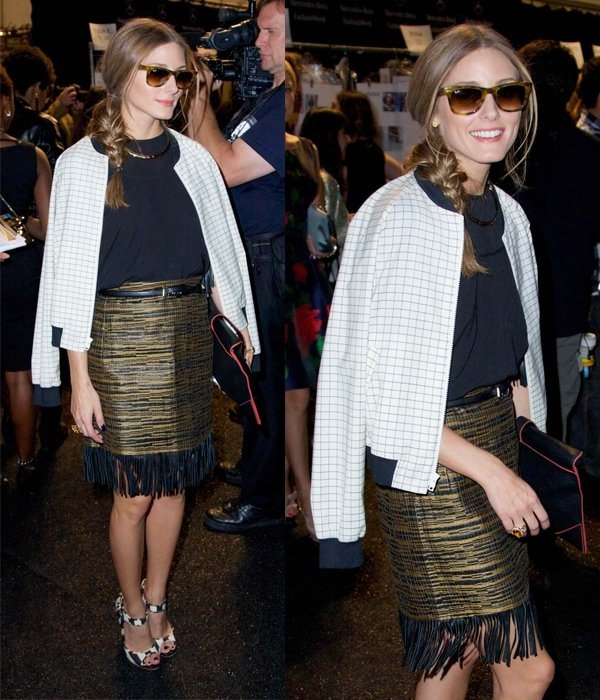 Olivia Palermo at the Dennis Basso Spring/Summer 2014 Runway Show in New York City on September 10, 2013