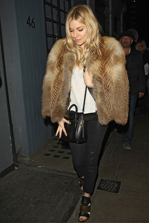 Sienna Miller at Groucho Club in London on November 8, 2013