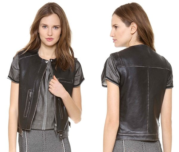 Alberta Ferretti Collection Sleeveless Leather Vest