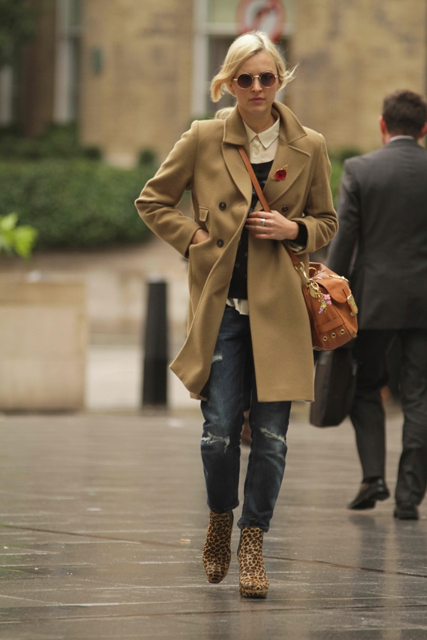 Fearne Cotton seen arriving at the BBC Radio 1 studios in Central London, United Kingdom, on November 11, 2013