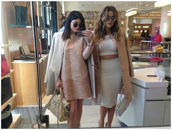 Kylie Jenner Khloe Kardashian shopping Stella McCartney
