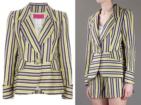 Christian Lacroix Vintage Striped Short Suit