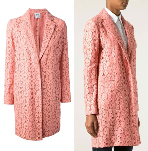 Moschino Cheap & Chic Floral Lace Coat