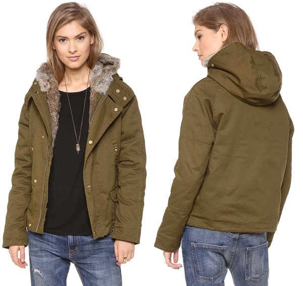 Shine Sparks Jacket with Fur Lining