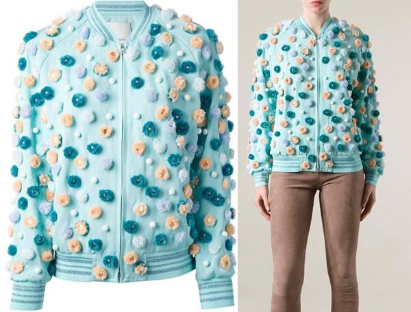 3 1 Phillip Lim Pearly Flower Embellished Jacket