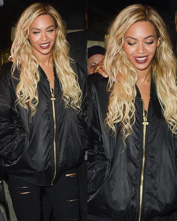 Beyonce leaving Mason House