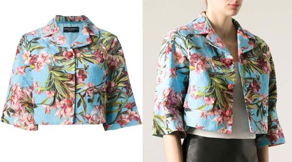 Dolce & Gabbana Floral Cropped Jacket