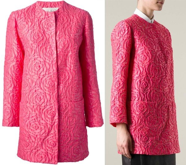 San Andres Milano Floral Embroidered Overcoat