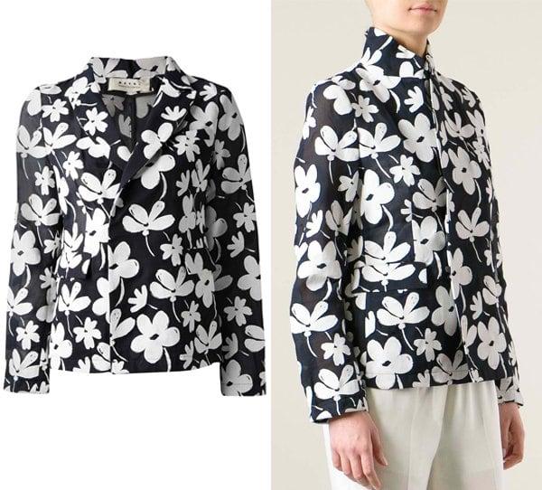 Marni Floral Print Blazer