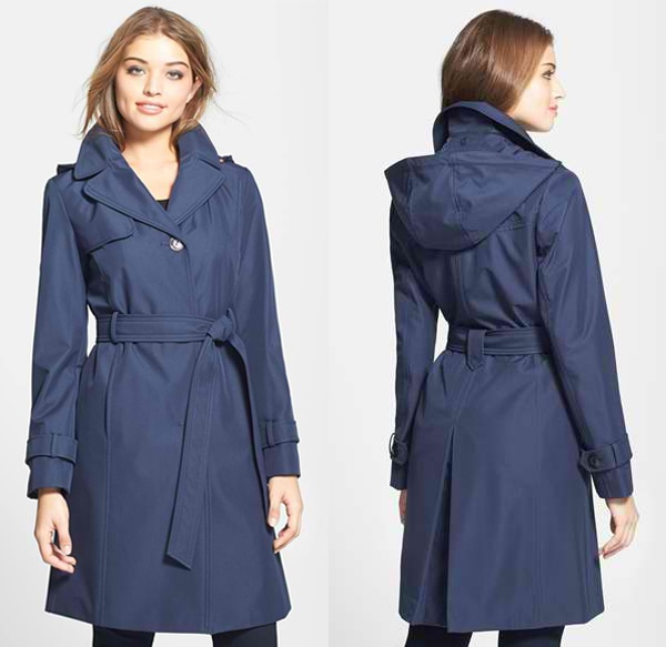 Collection Ellen Tracy Trench Coat with Detachable Hood