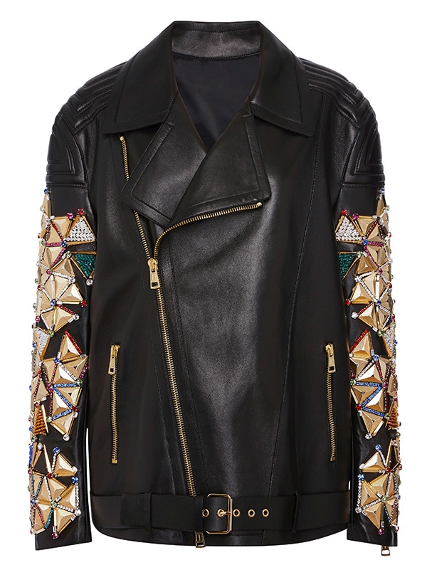 Fausto Puglisi Embellished Leather Jacket