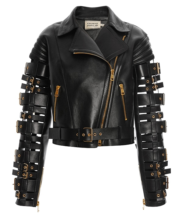 Fausto Puglisi Straps and Buckles Motorcycle Jacket