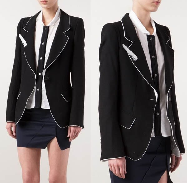 Ann Demeulemeester Feather Blazer