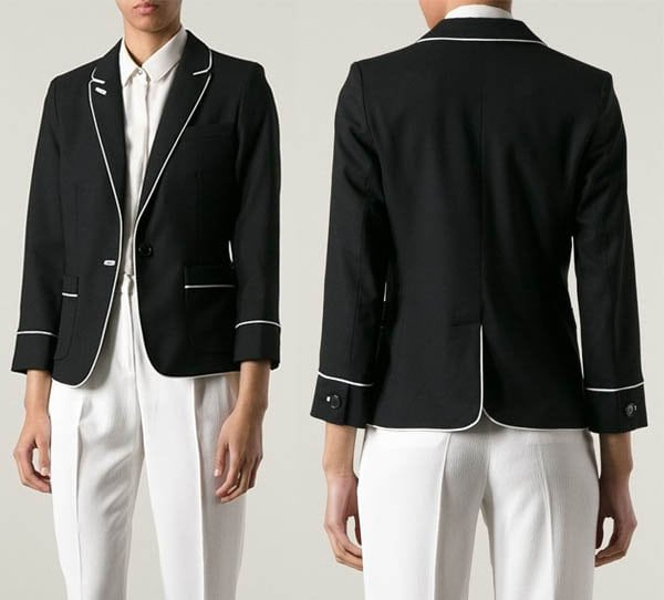Marc by Marc Jacobs Piped Trim Blazer