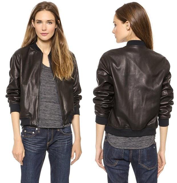 Rag & Bone JEAN The Leather Bomber Jacket