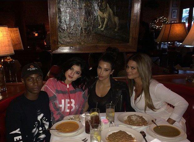 Shamari Maurice Kylie Jenner Kim Kardashian Carla DiBello dinner