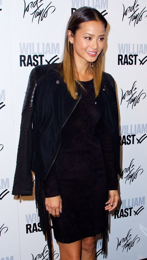 Jamie Chung at the US launch of William Rast at Lord & Taylor on the rooftop of Lord & Taylor's flagship Fifth Avenue store