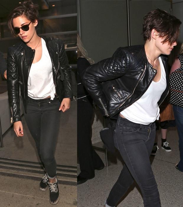 Kristen Stewart arrives at Los Angeles International (LAX) airport in Los Angeles