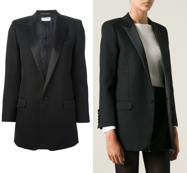Saint Laurent Tuxedo Style Blazer