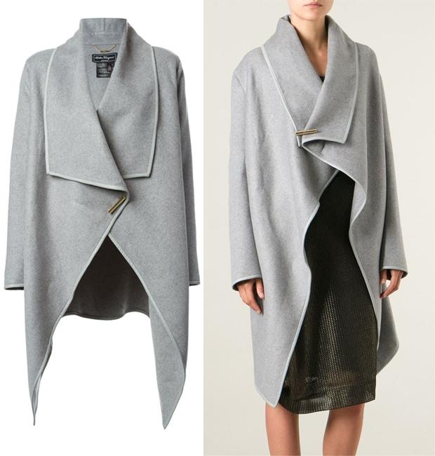 Salvatore Ferragamo Draped Loose Fit Coat