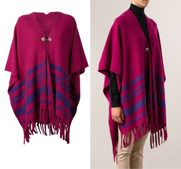 Barrie Knit Poncho