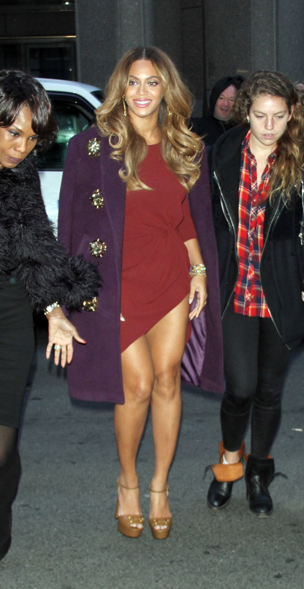 Beyonce arrives at the Billboard Women in Music Luncheon at Cipriani Wall Street in New York City on December 12, 2014