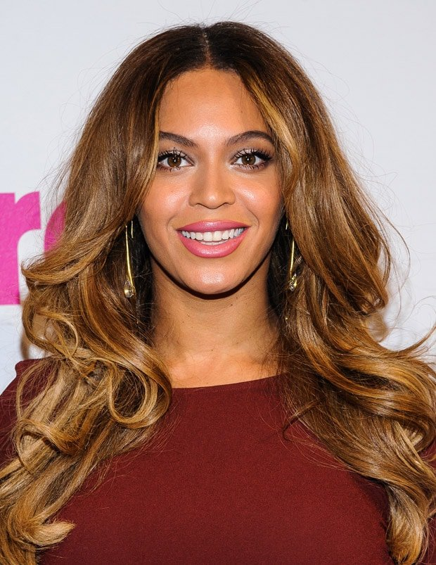 Beyonce smiling at the Billboard Women in Music Luncheon at Cipriani Wall Street in New York City on December 12, 2014