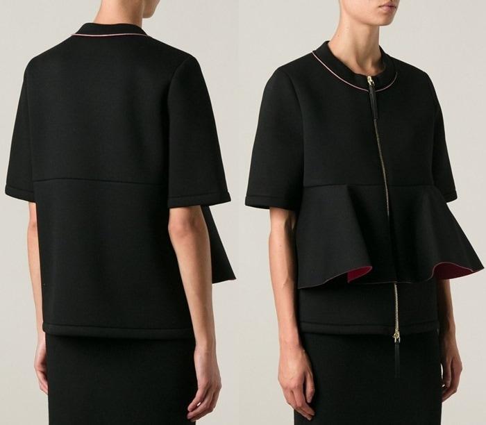 Marni Black Frill Jacket