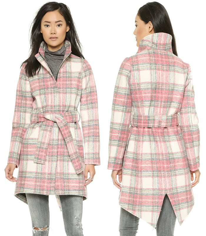 Chalk Stirrup Plaid Jacket