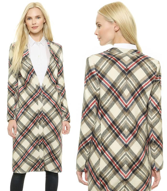 Laveer Plaid Overcoat