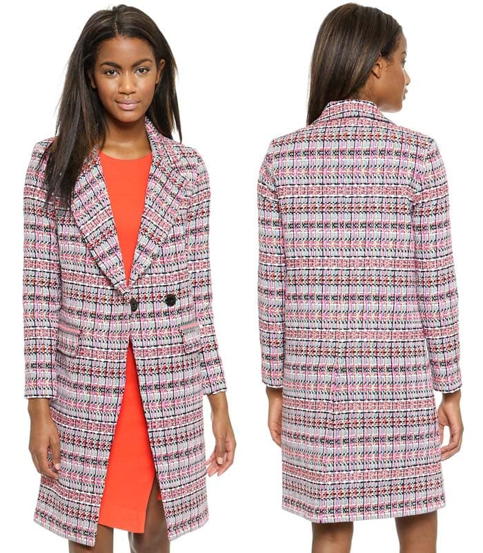 Milly Couture Tweed Cleo Coat