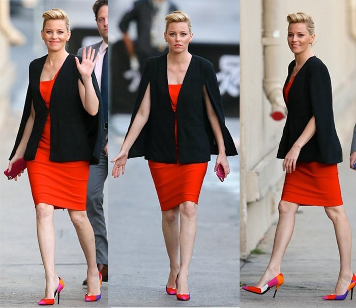 Elizabeth Banks flaunts her long legs before a taping at 'Jimmy Kimmel Live'