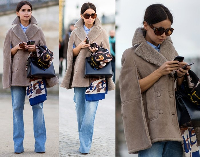 Miroslava Duma attends the Valentino show as part of the Paris Fashion Week Womenswear Fall/Winter 2014-2015