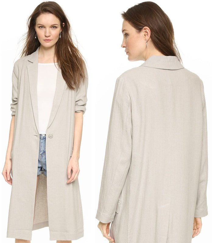 BB Dakota Caelyn Oversized Linen Coat