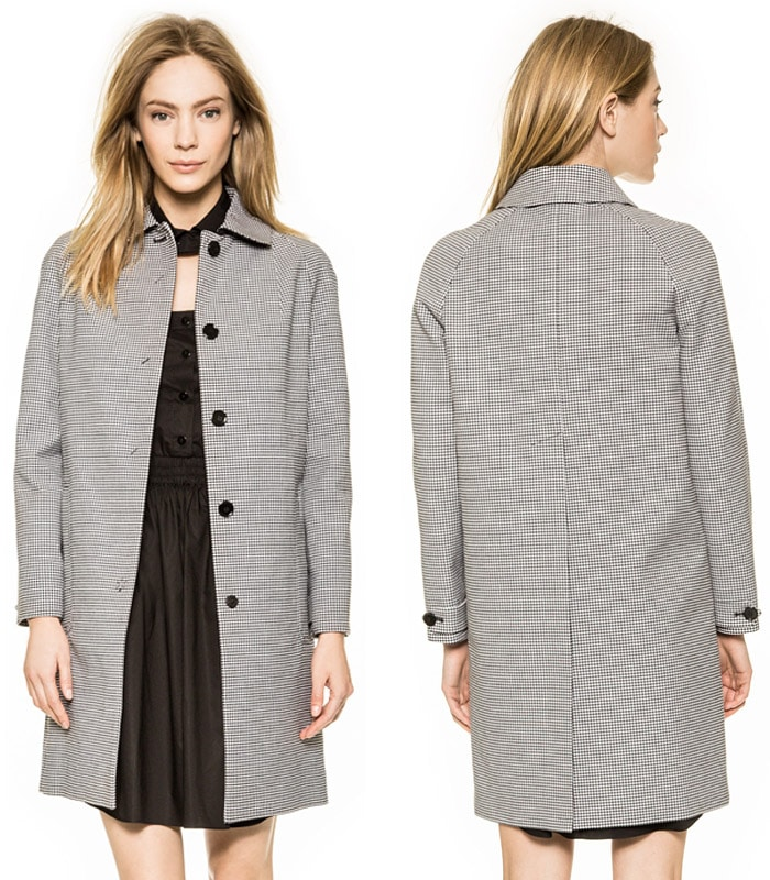 Carven Gingham Coat