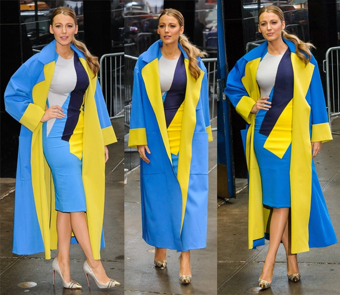 Blake Lively visits Good Morning America in Times Square in New York on April 21, 2015