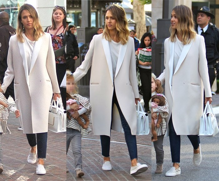 Jessica Alba out and about with her family at The Grove in California on February 28, 2015