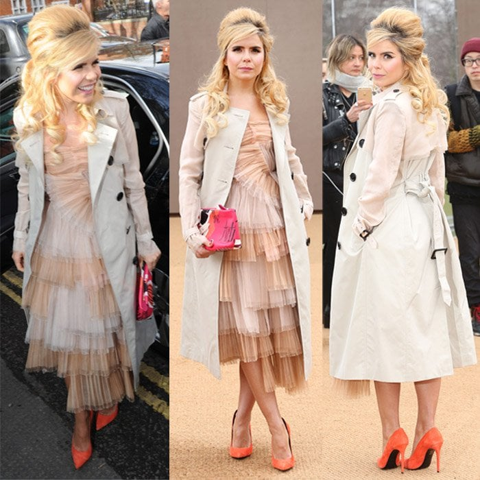 Paloma Faith at the LFW Autumn/Winter 2015 Burberry Prorsum Show in London on February 23, 2015