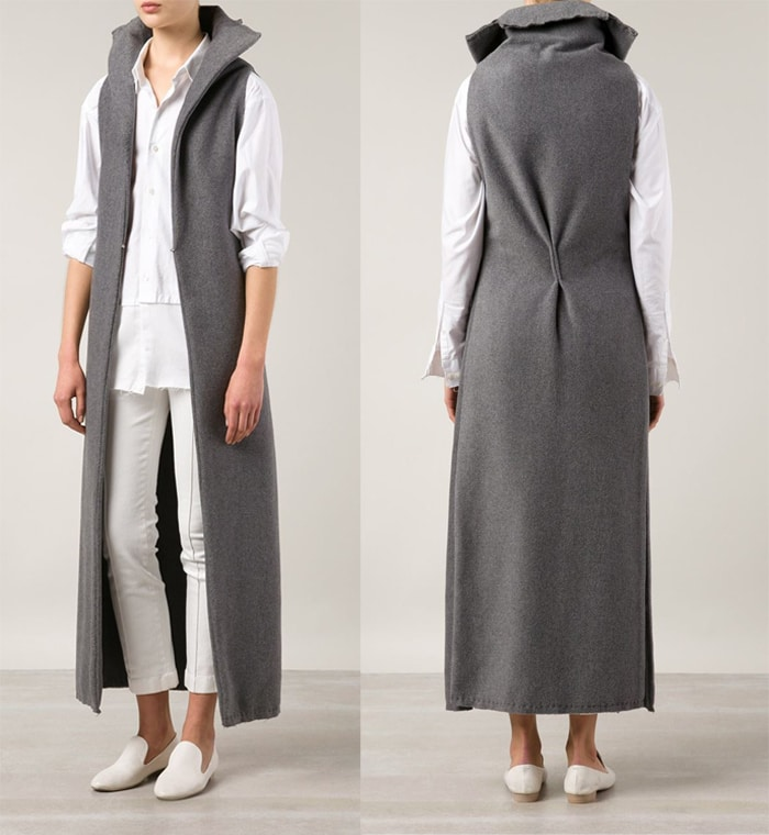 Sabine Luise Sleeveless Long Coat
