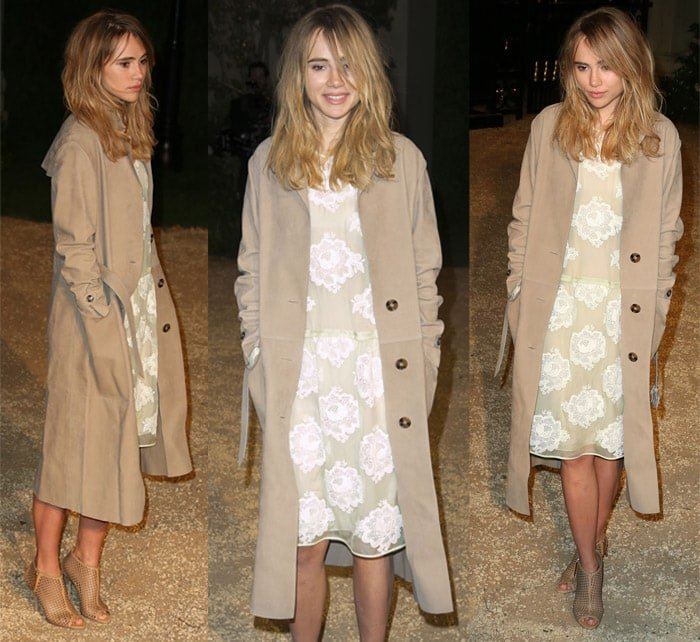 Suki Waterhouse attends the Burberry 'London in Los Angeles' event at Griffith Observatory in California on April 17, 2015