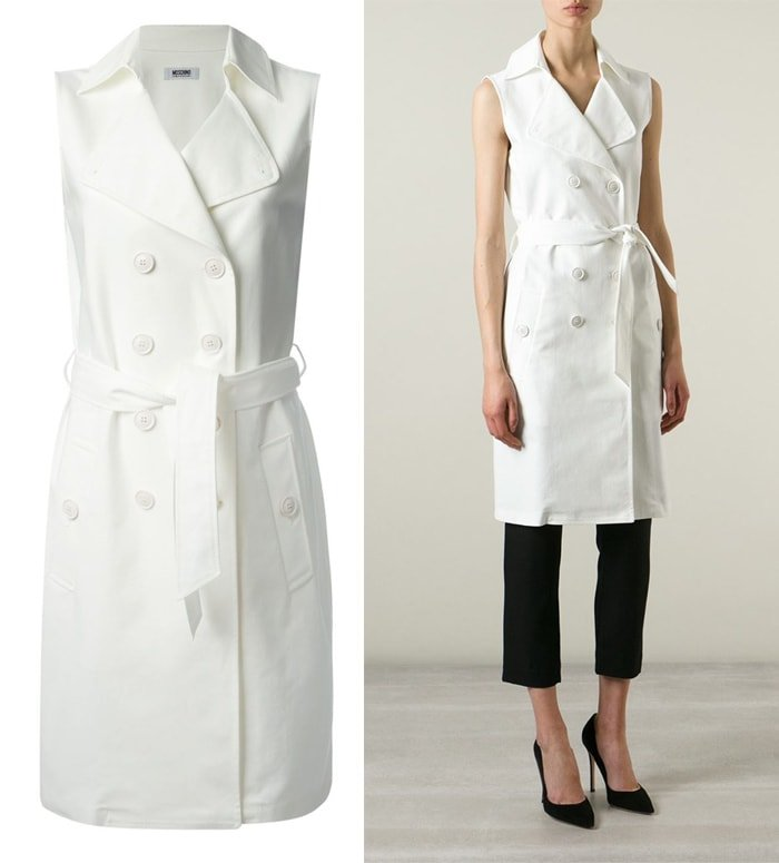 Boutique Moschino Sleeveless Trench Coat