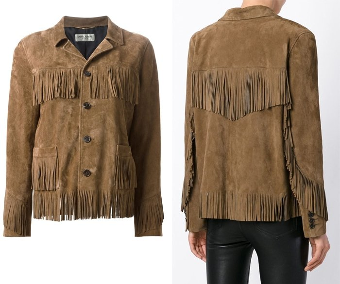 Saint Laurent Curtis Fringe Jacket