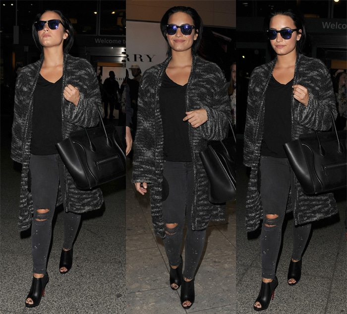 Demi Lovato was all wrapped up in a cozy Zadig & Voltaire Celia Yu coat