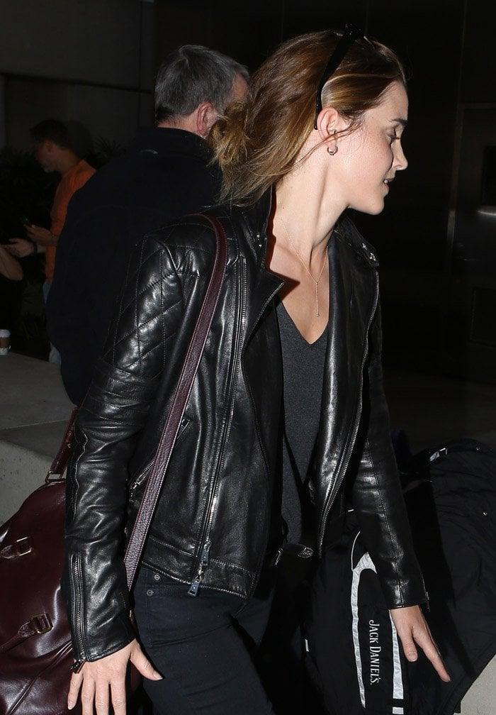 Emma Watson at Los Angeles International Airport (LAX)