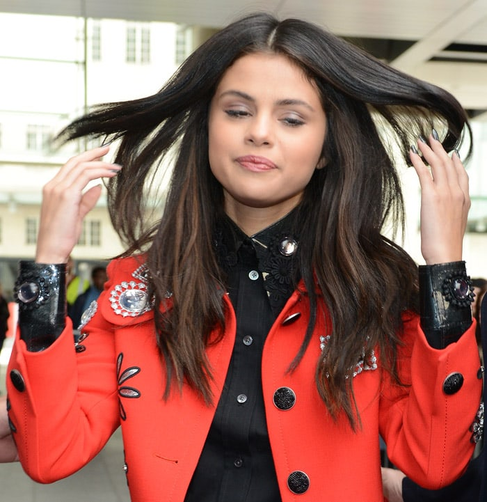 Selena Gomez leaves BBC Headquarters